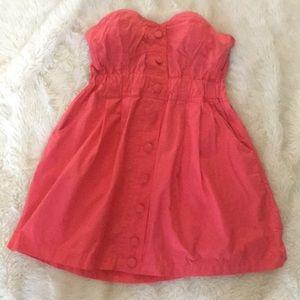 Strapless button down Dress